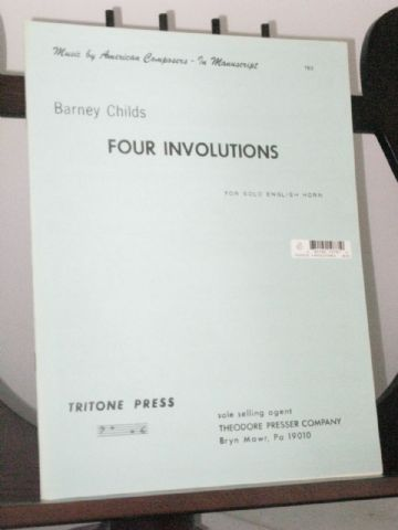 Childs B - Four Involutions for Solo English Horn